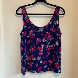 3/$25 - Forever21 Floral Tank Blouse
